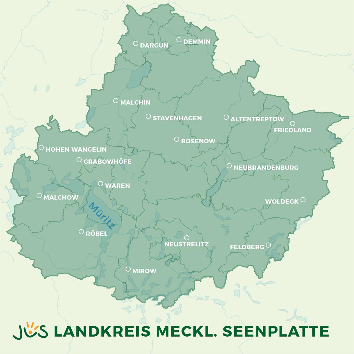 Mecklenburgische Seenplatte Kartenansicht.Jus Kitas In Mecklenburg Vorpommern